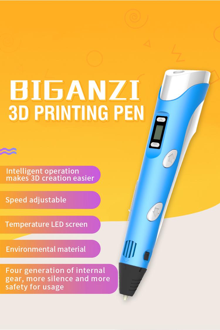 Kids Ручка для 3D-печати Цифровой дисплей Интеллектуальная 3D-ручка Низкотемпературная 3D-ручка для рисования граффити с USB Развивающие игрушки Мальчик девочка Gift_02.jpg