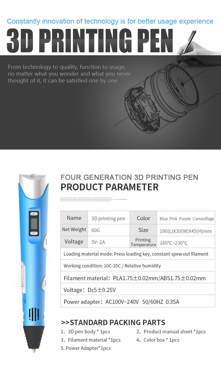 Kids Ручка для 3D-печати Цифровой дисплей Интеллектуальная 3D-ручка Низкотемпературная 3D-ручка для рисования граффити с USB Развивающие игрушки Мальчик девочка Gift_04.jpg